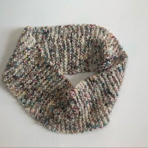 Hand knit 100% wool cowl scarf